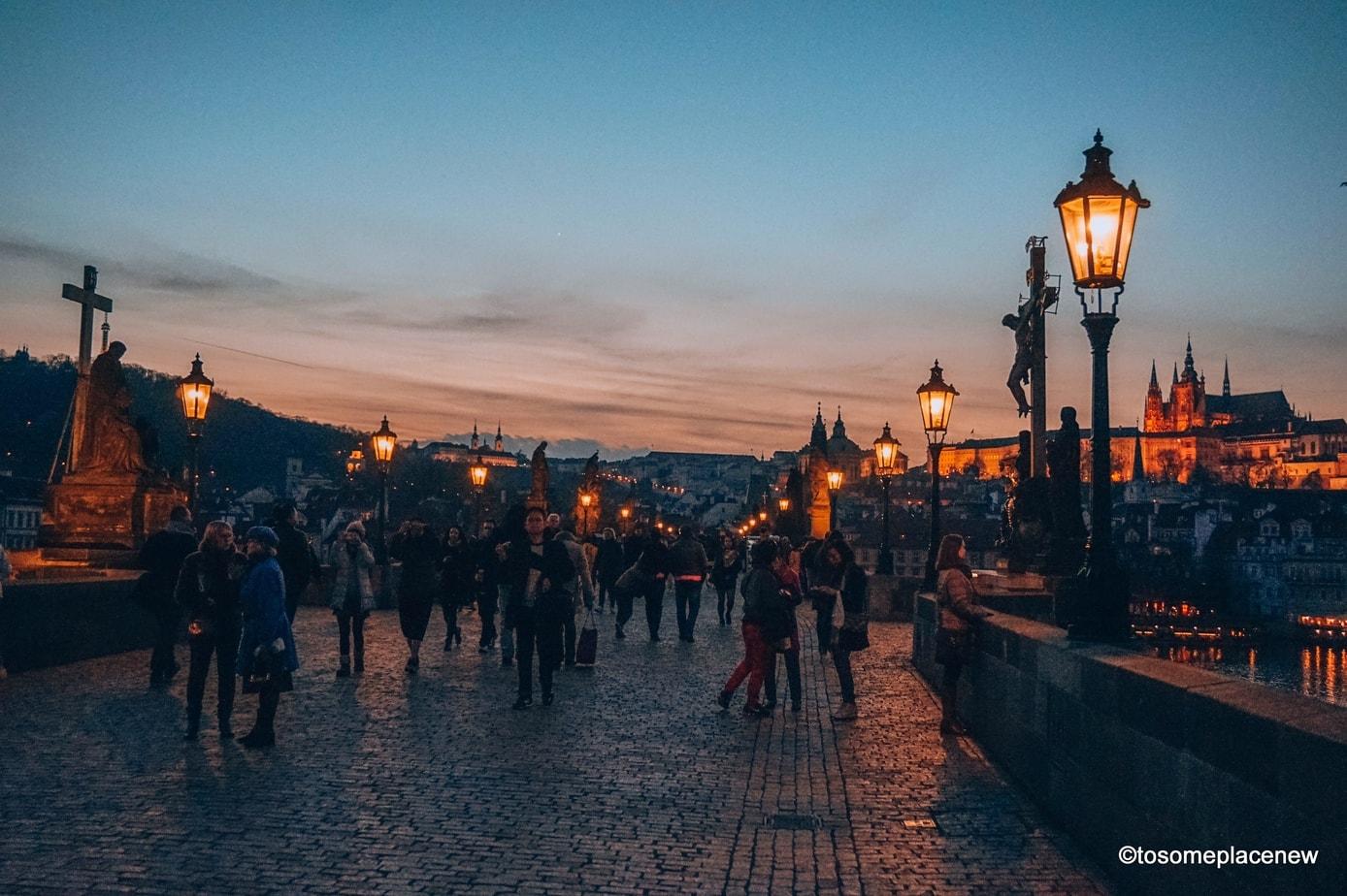 Evening in Prague, Czech Republic